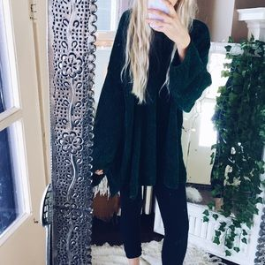 Sweaters - CHENILLE// Forest Green Oversized Sweater